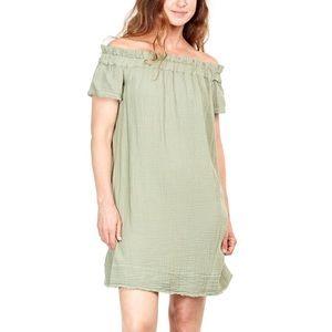 AMADI Nola Off-the-Shoulder Dress
